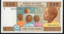 C.A.S.  LETTER T CONGO P106Ta 500 FRANCS  2002 Signature 5  ( FIRST ) UNC. - États D'Afrique Centrale