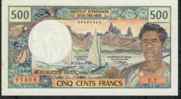 NEW CALEDONIA P60a 500 FRANCS 1970 Signature 1     #E.1    UNC. - Nouméa (Nuova Caledonia 1873-1985)
