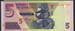 "ZIMBABWE NLP 5 DOLLARS 2019 #AA   WITHOUT ""BOND""   UNC. - Zimbabwe"