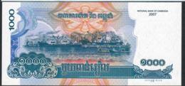 CAMBODIA P58c 1000 RIELS 2007 ( NEW PRINTED 2014 ) Signature NBC 2b   UNC. - Cambodja