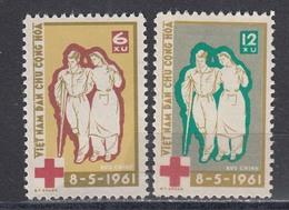 Vietnam Nord 1961 - 98 Years International Red Cross, Mi-Nr. 162x/63x, MNH** - Vietnam