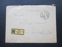 Österreich 1963 Stempel L1 Postamt Oetz Einschreiben Oetz Nach Insbruck Portofrei / PD Mit Ak Stempel - 1945-.... 2. Republik