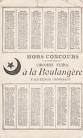 -  Calendrier  1896, 155mm X 85mm, A. Cardon-Duverger à Ste-Olle-Lez-Cambrai NORD, Pli Coin Haut Droit - Calendari
