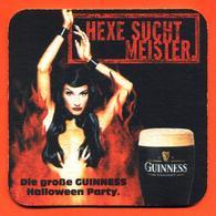 Sous Bock - Coaster Bière Guinness Halloween Party Bière Brasserie En Irlande - Femme Sorcière - Sotto-boccale