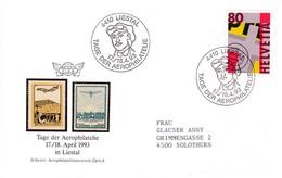 Tag Der Aerophilatelie Vom 17.-18.1993. In 4410 Liestal. - Transports