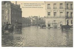 44-NANTES-Inondations Décembre 1910-Place Lamoricière Et Avenue De Launay... Animé - Nantes