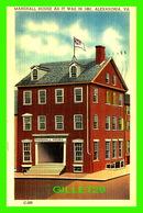 ALEXANDRIA, VA - MARSHALL HOUSE AS IT WAS IN 1861 - TRAVEL IN 1952 - - Alexandria