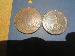 2 Pieces Peut-etre Angleterre Et Bresil,rien De Sur Diametre Environ 3,5 Cm - Tokens & Medals