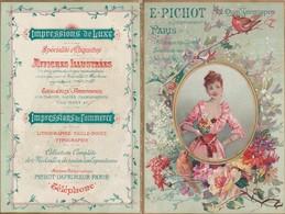 - Très Beau Calendrier 1892 Chromo 150mm X 100mm, E. PICHOT, 72 Quai Jemmapes à PARIS - Calendriers
