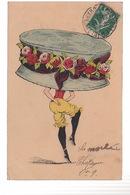 CPA Illustrateur Style Mouton Ou Roberty - Femme Sexy Avec Chapeau Géant - Illustratori & Fotografie