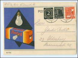 U9428/ Pintsch Glühbirne  Werbung AK 1947 - Publicité