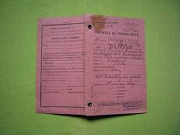 Fascicule De Mobilisation Oran Algérie Jullien Gabriel Classe 1922 - Documentos