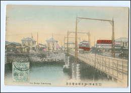 XX00570/ Yokohama Car Bridge Tram Straßenbahn Japan AK Ca.1912 - Unclassified