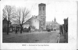 MONS  BOULEVARD ET TOUR DES ECOLIERS     Réf 713 - Mons
