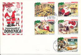 Dominica FDC Christmas Walt Disney 2-11-1981 With Cachet - Disney