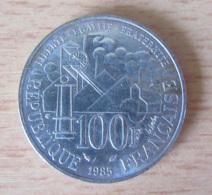 France - Monnaie 100 Francs Emile ZOLA 1985 En Argent - Achat Immédiat - N. 100 Francs
