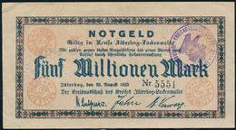NOTGELD / JÜTERBOG - 1923 ,   Fünf Millionen Mark , Notgeldschein Im Kreis Jüterbog-Luckenwalde - Gebraucht - Lokale Ausgaben