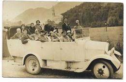 65-LOURDES-CARTE PHOTO-Autobus Décapotable... Animé  (coin Pli) - Lourdes