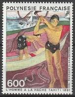 Polynésie Française PA 1983 N° 174 MNH L'homme à La Hache Tahiti (afp13) - Ungebraucht
