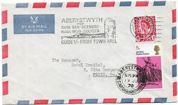 GRANDE BRETAGNE ABERYSTWYTH FLAMME 1970 POUR FRANCE - 1952-.... (Elizabeth II)