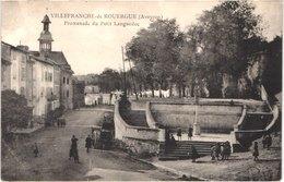 FR12 VILLEFRANCHE DE ROUERGUE - Promenade Du Petit Languedoc - Animée - Villefranche De Rouergue