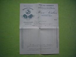 Facture Illustrée Vierge 1900 Distillerie D'absinthe Soulas à Ganges Hérault - Francia