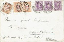Segnatasse Tre 10c Sul Lettera AFRRANCATURA INSUFFICIENTE Da BELGIO Per COURMAYEUR 1925 - Marcophilie - EMA (Empreintes Machines)