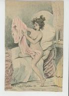 """Illustrateur H. BOUTET - Jolie Carte Fantaisie Femme Nue """"LE COUCHER """" - Boutet"""