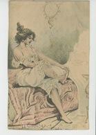 """Illustrateur H. BOUTET - Jolie Carte Fantaisie Femme En Petite Tenue """"LE COUCHER """" - Boutet"""