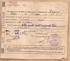 Vieux Papiers > Titres De Transport > Non Classés Feuille De Deplacement 4 RTT - Titres De Transport