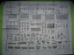 Pub Très Grand Format Magasins Du Louvre Sellerie  Paris - Publicités