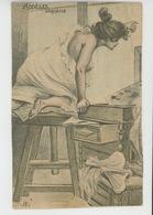 """Illustrateur H. BOUTET - Jolie Carte Fantaisie Femme En Petite Tenue """"MODELES D'ARTISTES """" - Boutet"""