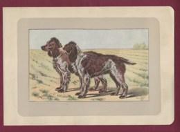 300120B - PHOTOGRAVURE EN COULEURS 1907 De MAHLER Peintre Animalier - Chasse Chien - L' EPAGNEUL DE PONT AUDEMER - Litografia