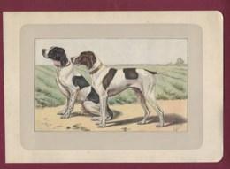 300120B - PHOTOGRAVURE EN COULEURS 1907 De MAHLER Peintre Animalier - Chasse Chien - LE POINTER ANGLAIS - Litografia