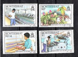 Montserrat - 1985. Industria Del Cotone. Cotton Industry. Complete MNH Series - Fabbriche E Imprese