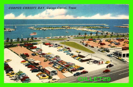 CORPUS CHRISTI, TX - CORPUS CHRISTI BAY - WELL ANIMATED - TRAVEL IN 1958 - COLE'S OFFICE EQUIPMENT CO - - Corpus Christi