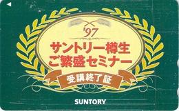 BOISSON - BIERE - BEER - ALIMENTATION - PUB - PUBLICITE - Télécarte Japon - Lebensmittel