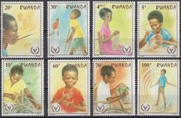 Rwanda 1981 OCBn° 1078-1085  *** MNH Cote 6,75 Euro Année Des Personnes Handicapées - 1980-89: Neufs