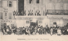 CPA 84 CARPENTRAS GRAND CAFE DU SIECLE  REY TRES ANIME - Carpentras