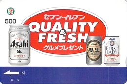 BOISSON - BIERE - BEER - ALIMENTATION - PUB - PUBLICITE - Carte Prépayée Japon - Lebensmittel