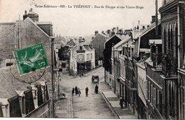 Dép. 76 - LE TREPORT - Circulé - Rue De DIEPPE, Rue VICTOR HUGO - Le Treport