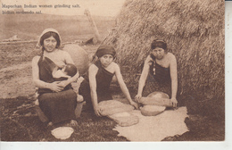 CHILE - Mapuchan Indian Women Grinding Salt - Inias Moliendo Sal ( Indios Indiens ) - Chile