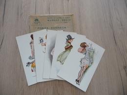 Carnet 5 CPA + Enveloppe PUB Marque Delta Pépin Porte Bonheur Femmes érotique Nu Nude Rare!!! - Pepin