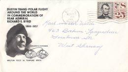 84800- DUSTIN TRANS POLAR FLIGHT AROUND THE WORLD, POLAR PHILATELY, SPECIAL COVER, 1968, USA - Vols Polaires