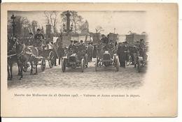 MARCHE DES MIDINETTES. 25/10/1903. VOITURES ET AUTOS ATTENDANT LE DEPART - France