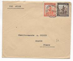 CONGO BELGE - 1946 - ENVELOPPE Par AVION De COSTERMANSVILLE => GRASSE (ALPES MARITIMES) - Belgisch-Kongo