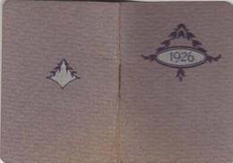 - Très Beau Calendrier De 1926 Avec 16 Pages Agenda - Petit Format : 1961-70