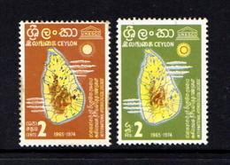 CEYLON      1966    International  Hydrological  Decade    Set  Of  2        MNH - Sri Lanka (Ceylon) (1948-...)
