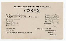 DURHAM - ENGLAND  - CB RADIO - Radioamatore - Radioamateur - QSL - Short Wave - Carte QSL