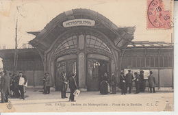 PARIS - Station Du Métropolitain - Place De La Bastille ( C.L.C. )  PRIX FIXE - Métro Parisien, Gares